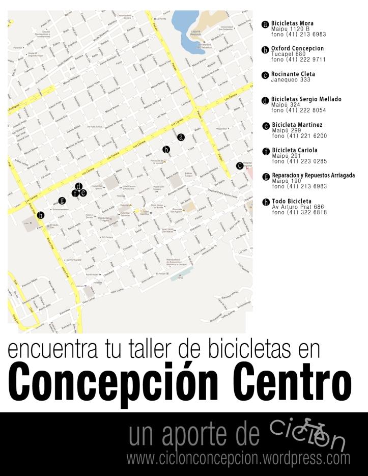 mapa-talleres-bicicleta-concepcion-centro